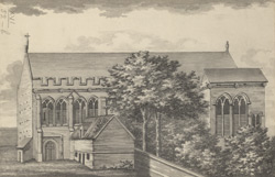 A North View of the ancient palace at Eltham